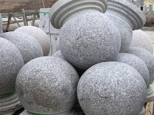 road lanscaping ball stopping stone